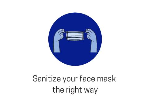 sanitizing the face mask